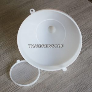 Large Funnel with Removable Strainer, 10-inch