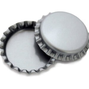 Silver Bottle Cap (100 pcs)