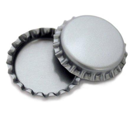 Silver Bottle Cap (100 pcs)
