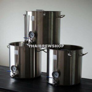 3-Tier Brewing System Kettles Set (HLT-MLK-BK) - 13 US gal