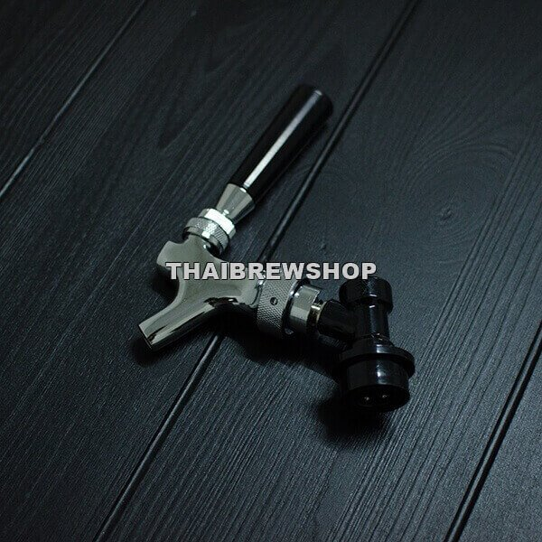 Keg Faucet Quick Disconnect Assembly (Chrome Plated)