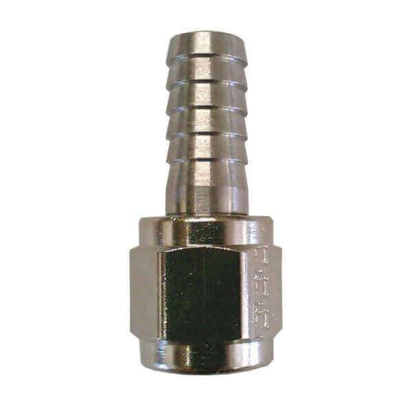 "1/4"" Chrome Barbed Swivel Nut, MFL"