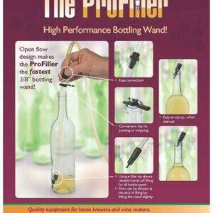 Fermtech ProFiller Spring-less Bottle Filler (Made in Canada)