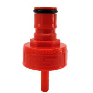 red plastic carbonation cap